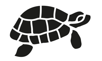 Schwarze Schildkröte Silhouette