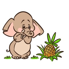 Elephant cartoon illustration isolated image animal character
