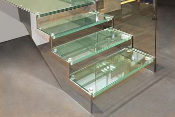 Photo on textile frame Stairs Glass Stairs