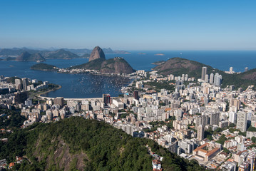 Fototapete - Botafogo Neighborhood View With the Sugarloaf Mountain View, Rio de Janeiro