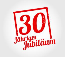 30 Jahre Jubiläum stempel
