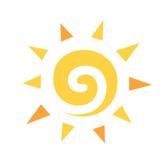 This is an illustration of sun symbol