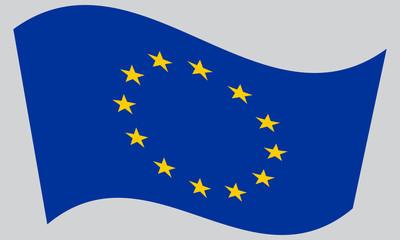 Flag of Europe, European Union, waving