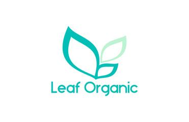 leaf simple organic logo