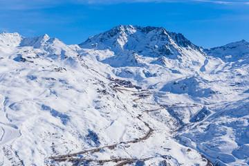Ski resort  Val Thorens. Village of Val Thorens. France