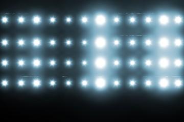 In de dag Licht, schaduw Digitally generated image of blue spotlight