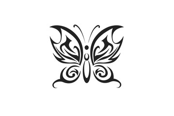 Butterfly tattoo /  tribal