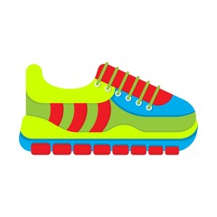 color fashionable sneakers