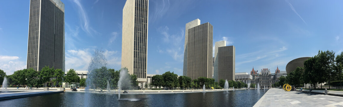 Panorama of State legislature building in Albany, New York