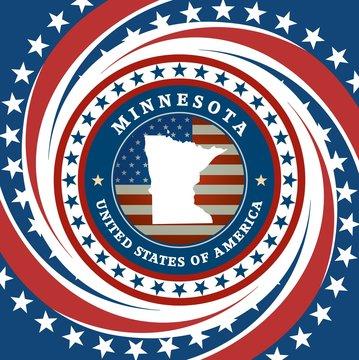 Vintage label Minnesota