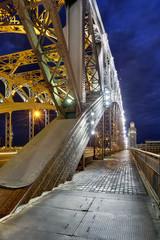 Bolsheokhtinsky Bridge, Saint-Petersburg city, Russia