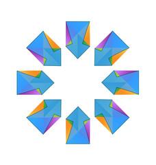 Vector arrows fractal logo