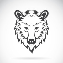 Vector images of bear head on a white background., Vector bear h