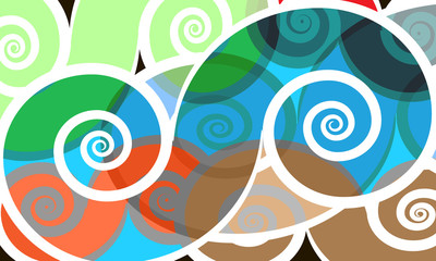 vector  colored swirly background