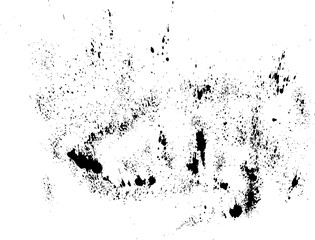 Abstract ink drops background. Black and white vector grunge texture.