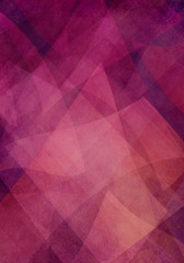 abstract background of transparent geometric shapes layered on purple pink background color