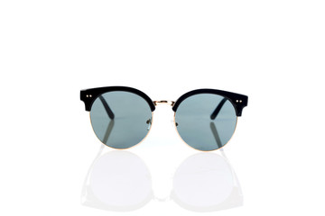 Sunglasses on white background ,selective focus