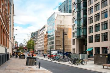 LONDON, UNITED KINGDOM - June 21, 2016. Beautiful street view of