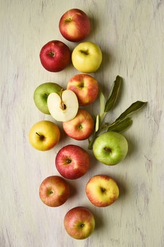 Apples With Leaves Still Life