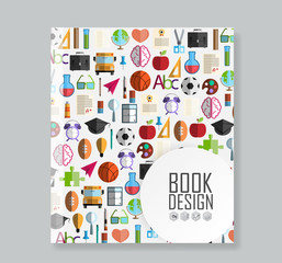 Book Back to School icon background, illustration vector.