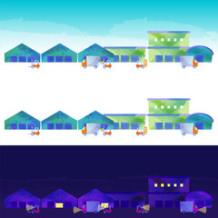 倉庫街の風景