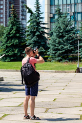 Professional male photographer