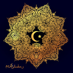 Ramadan greetings ornate background.