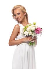 Portrait of an attractive  bride