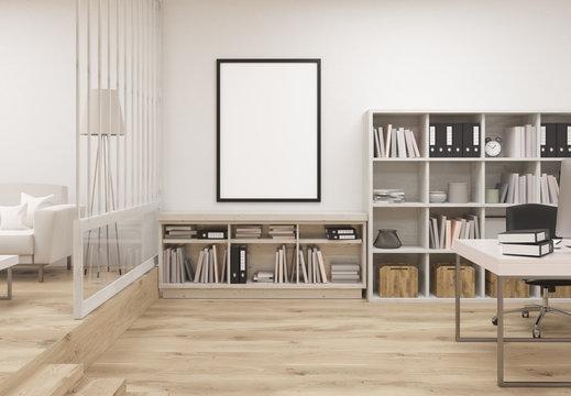 Creative cozy office interior