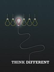 Think Different - Typo - Glühbirne