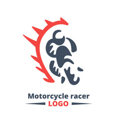 illustration and logo sport motorcycle racer