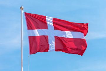 The official flag of Denmark