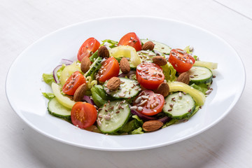 vegetable salad with seeds