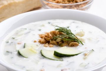 tarator in white bowl
