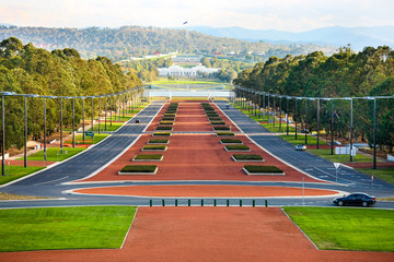 Anzac Parade, Canberra from the Australian War Memorial to Parliament House