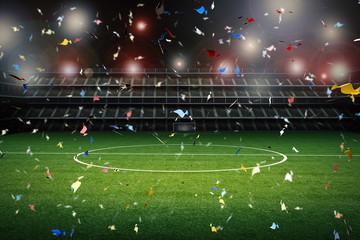 celebration soccer field background