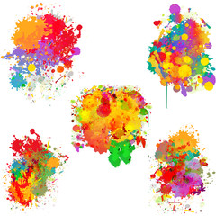 Abstract colorful splash backgrounds, banners