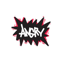 Angry. Color inspirational vector illustration