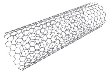 The structure of the graphene tube of nanotechnology. 3d illustration