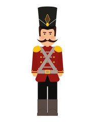Toy concept represented by soldier icon. isolated and flat illustration