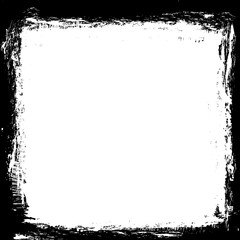grunge black ink border frame background