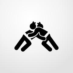 judo icon. judo sign