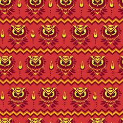 Wall Mural - beautiful bird seamless, cute image of birds pattern, illustration colored summer textile design. Beautiful design pattern