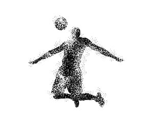 Man Ball player silhouette
