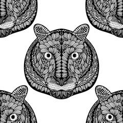 Seamless Tiger pattern