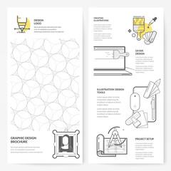 Business brochure flyer design layout template: Graphic design brochure