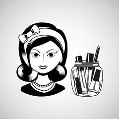 female makeup design