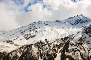 Snow-capped mountains. The Caucasus