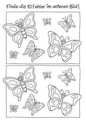 Fehlerbild Schmetterlinge
