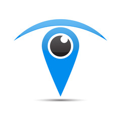 eye icon logo vector 9